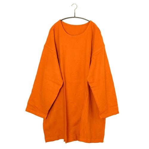 鄭惠中さんの ワンピース(生地厚め) 赤橙色
