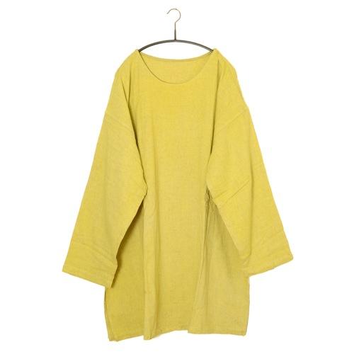 鄭惠中さんの ワンピース(生地厚め) 黄檗色
