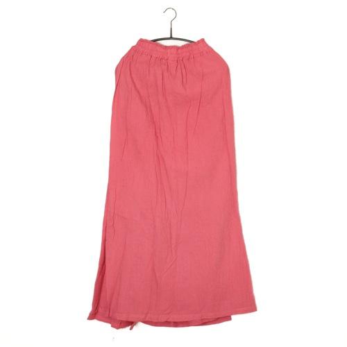 鄭惠中さんの 綿麻パンツスカート(フリーサイズ) 真朱色