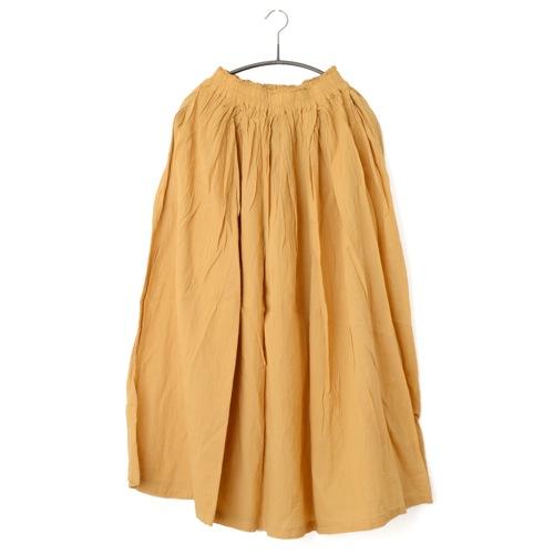 鄭惠中さんの 綿麻スカート(薄手・フリーサイズ) 鈍柑子色