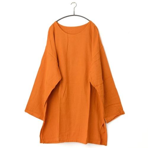 鄭惠中さんの ワンピース(生地厚め) 橙色