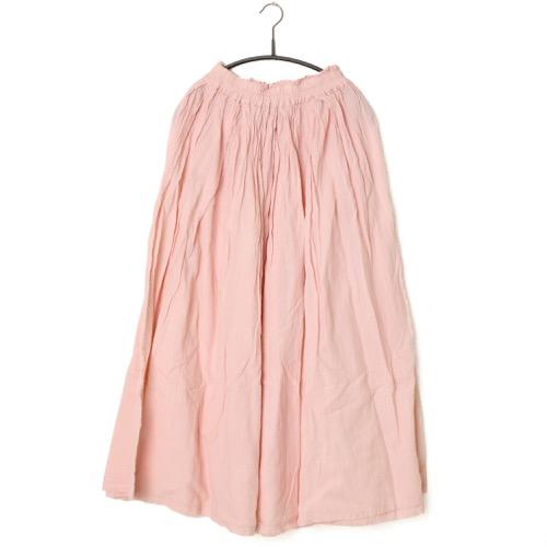 鄭惠中さんの 綿麻スカート(薄手・フリーサイズ) 薄桃色