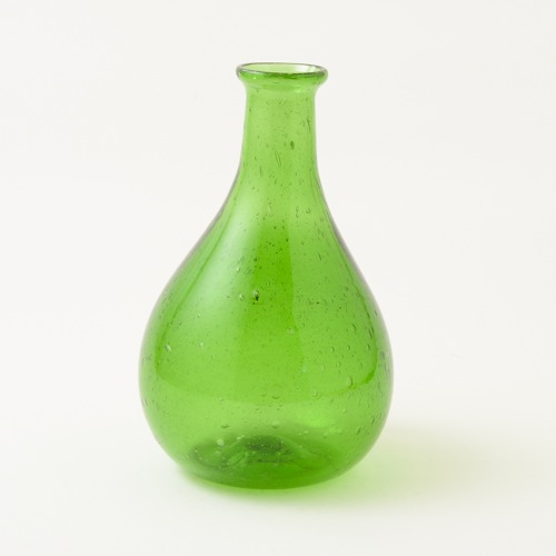 太田潤手吹き硝子工房 瓶 グリーン