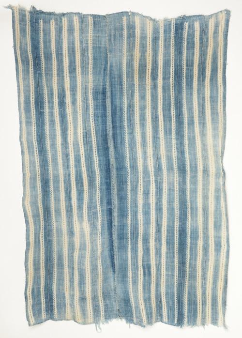 ブルキナファソ バンバラ族 藍染め絞り染め布