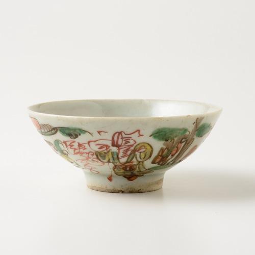 中国 赤絵 四寸碗