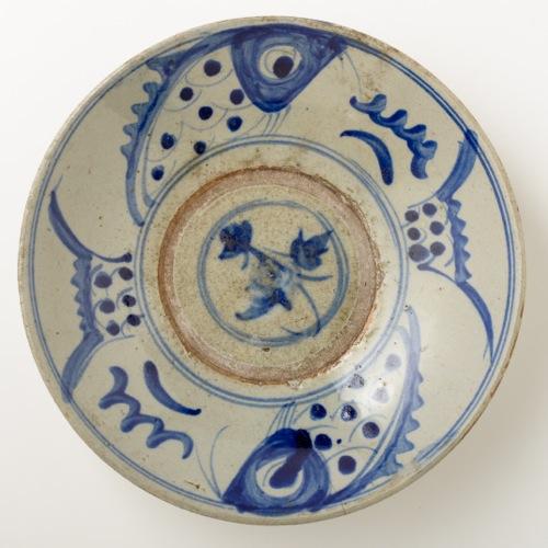 中国 魚紋 八寸皿
