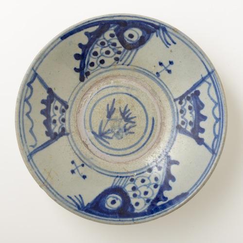 中国 魚紋 7.5皿