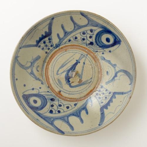 中国 魚紋 七寸皿
