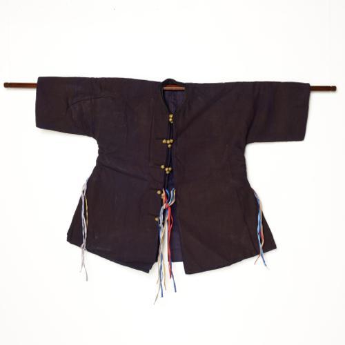 中国 貴州省 トン族 男性祭礼用藍染衣装 四層