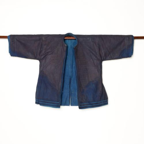 中国 雲南省 ハニ族 男性藍染衣装 十層