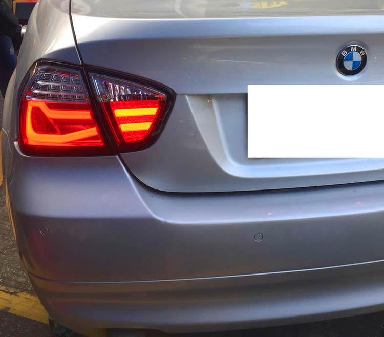 BMW E90 前期 セダン用 LED ブレーキ ランプ テールライト 左右セット ファイバー 3シリーズ F30モデル テール ライト カスタム パーツ