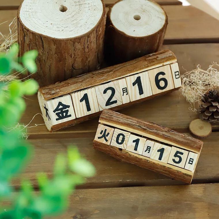 ※アウトレット品 天然木 万年カレンダー アンティークキューブカレンダー カレンダー アンティーク おしゃれ 木製 杉 キューブ 売却 カレンダー卓上 ディスプレイ クラシック 卓上 レトロ