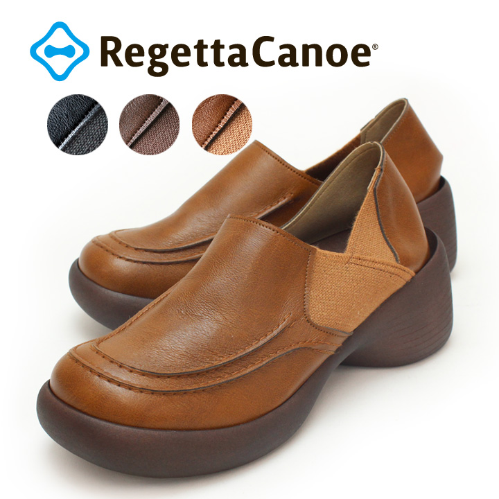 RegettaCanoe -リゲッタカヌー-CJBK-900 ブロックヒールタイプ モカシンシューズ