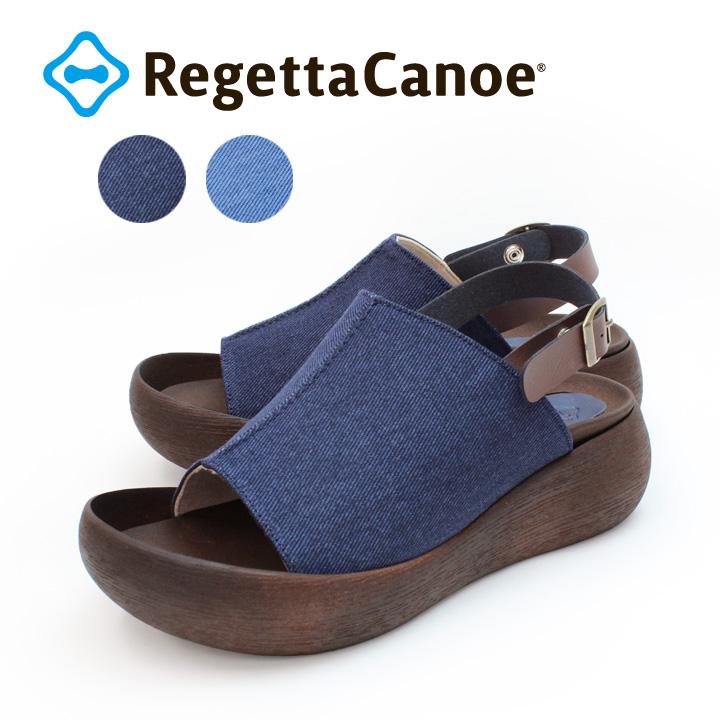 RegettaCanoe -リゲッタカヌー-CJBH-3002 デニム生地バックベルトサンダル