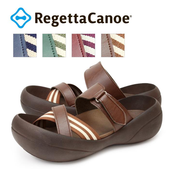 RegettaCanoe -リゲッタカヌー-CJBF-5139 ビッグフット ボーダーゴムサンダル/メンズ