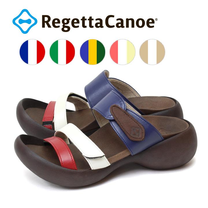 RegettaCanoe -リゲッタカヌー-CJEG-5224 エッグヒール トリコロールエッグヒールサンダル