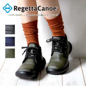 RegettaCanoe -リゲッタカヌー-CJFS-6814 フィールドシューズタイプ ステッチナイロン風ハイカットブーツ