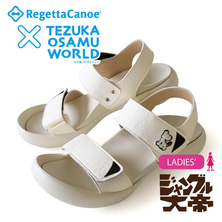 RegettaCanoe リゲッタカヌーx手塚コラボモデル!RCTZ-10 ジャングル大帝レオ フィールドサンダル/レディース