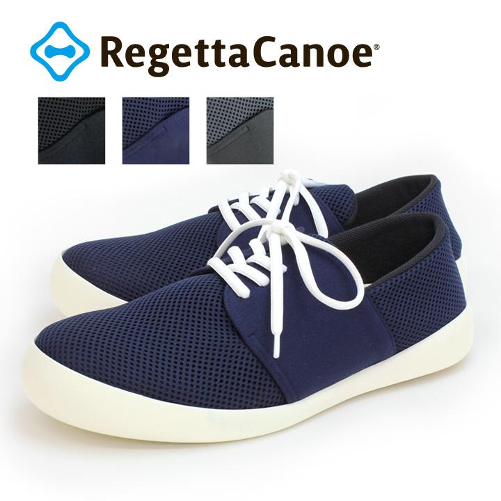 RegettaCanoe-リゲッタカヌー-CJFC-7117 フラットソール メッシュレースアップシューズ / メンズ
