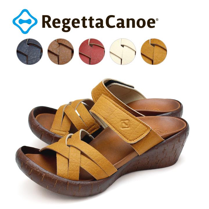 RegettaCanoe -リゲッタカヌー-CJLW-4504 ウェッジヒール 編みこみデザインウェッジサンダル
