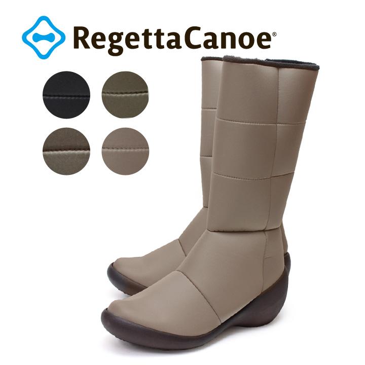 RegettaCanoe-リゲッタカヌー-CJWS-6712 ウェッジシューズ カジュアルステッチロングブーツ