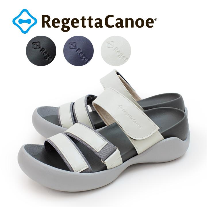 RegettaCanoe -リゲッタカヌー-CJCH-1000 カバードヒール スリーストラップサンダル