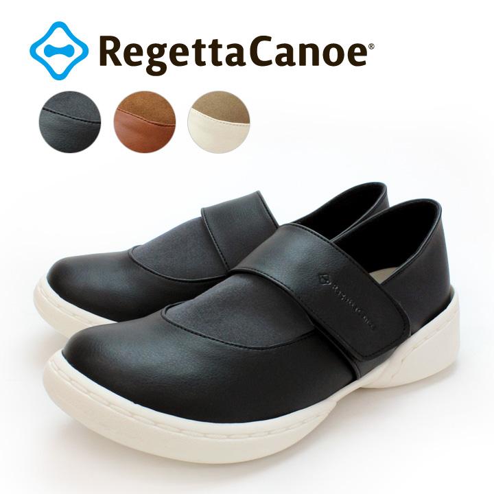 RegettaCanoe -リゲッタカヌー-CJSR-7202 ステイバラウンド 異素材デザインワンベルトシューズ