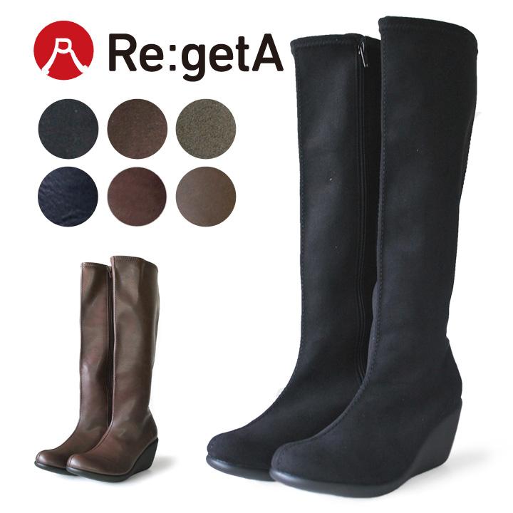Re:getA -リゲッタ-R-2404,R-2405 ストレッチロングブーツ(7cmヒール)