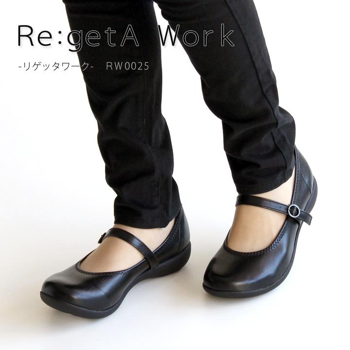 Re:getA Work -リゲッタワーク-RW-0025 ベルト付きローヒールパンプス