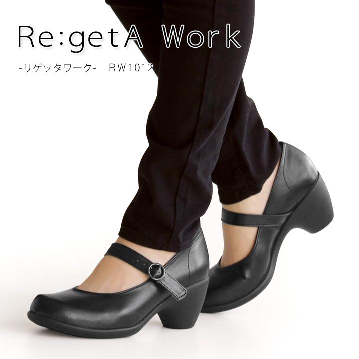 Re:getA Work -リゲッタワーク-RW-1012 ワンベルトヒールパンプス/フォーマルパンプス