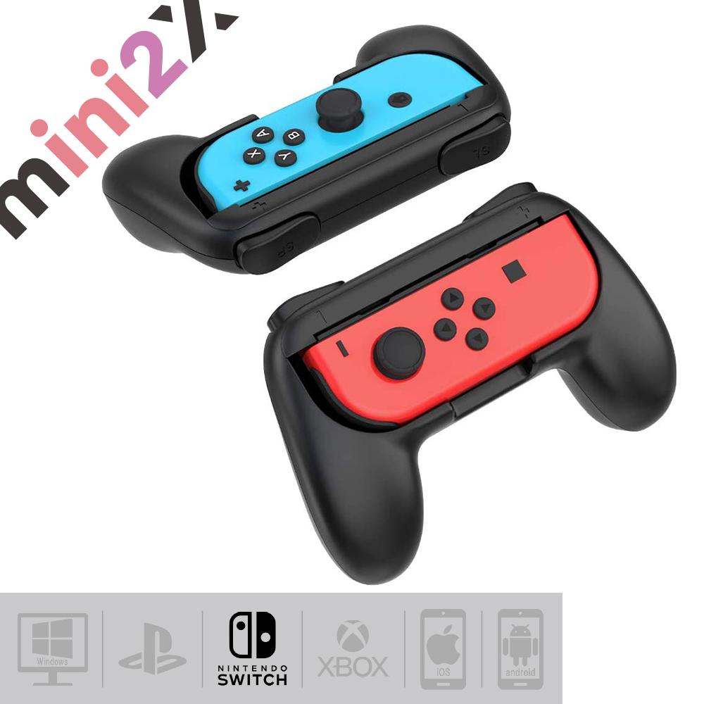 mini2x ジョイコングリップ Nintendo Switch 対応 Joy-Conハンドル 持ちやすい switch 初回限定 グリップ 2個 任天堂 マリオメーカー スマブラ ニンテンドースイッチ 超激安特価 子供 箱ダメージ 送料無料 スイッチ カバー 友達 マリオカート Joy-Con フォートナイト 新品未使用 ハンドル ド 対戦 ジョイコン どうぶつの森 仲良く