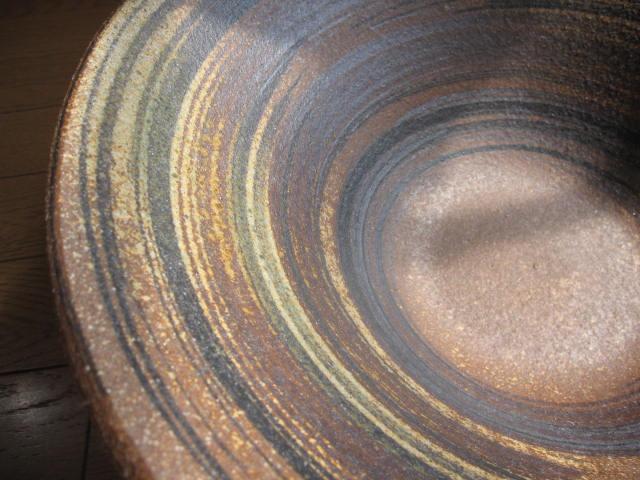 信楽焼きの技の逸品   本物の手作りの一品 信楽焼きめだか鉢 アーサーライン(13号) 睡蓮鉢  水鉢  送料無料