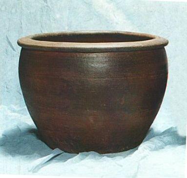 水生植植物鉢にも最適 送料無料水れん鉢 水鉢EW001-L-A    睡蓮鉢  水鉢  送料無料 外国産ですので お値段が このサイズでは とても お買い得