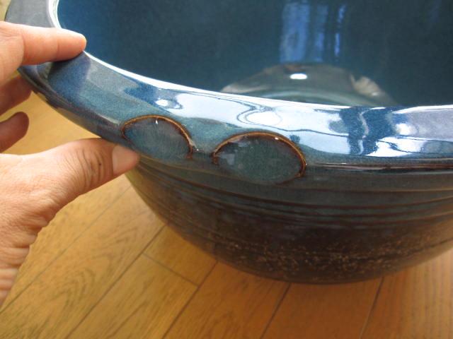 信楽焼きの技の逸品 本物の手作りの一品 水鉢信楽焼き水鉢生子千段水鉢 ふるさと割 15号 正規品送料無料 睡蓮鉢 水鉢 送料無料
