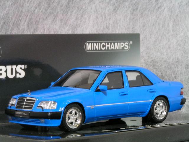 ミニチャンプス 1/43 ブラバス (メルセデス ベンツ) 6.5 (500E / W124) / ブルー