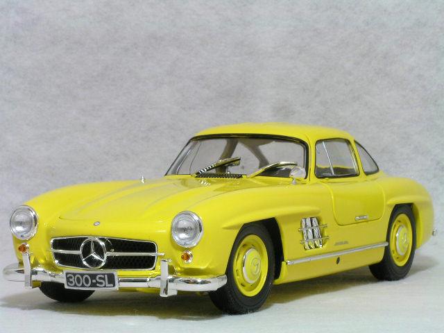 ミニチャンプス 1/18 メルセデス ベンツ 300 SL ( W198 ) / 1954年 イエロー