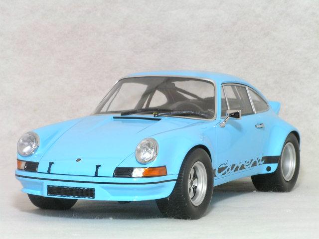 ミニチャンプス 1/18 ポルシェ 911 ( ナロー )カレラ RSR / ガルフ ブルー、ブラック カレラストライプ