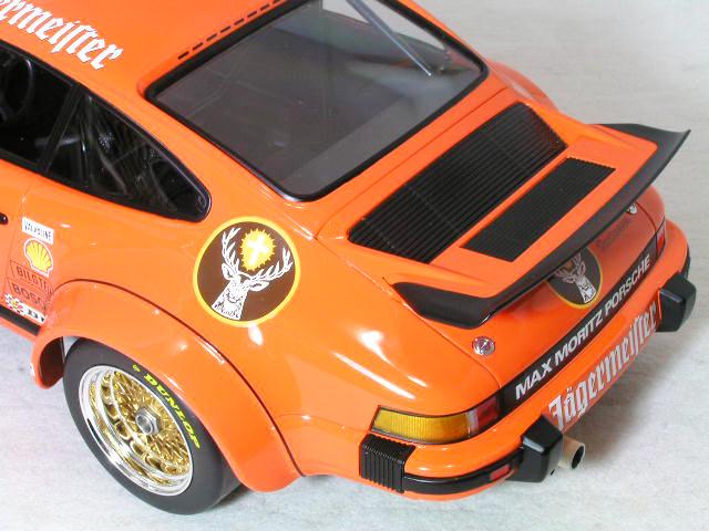 ミニチャンプス 1/12 ポルシェ 934 ターボ RSR イエガーマイスター #12 / 1976年 DRM ADAC EIFELRENNEN 優勝車、H.ケレナーズ