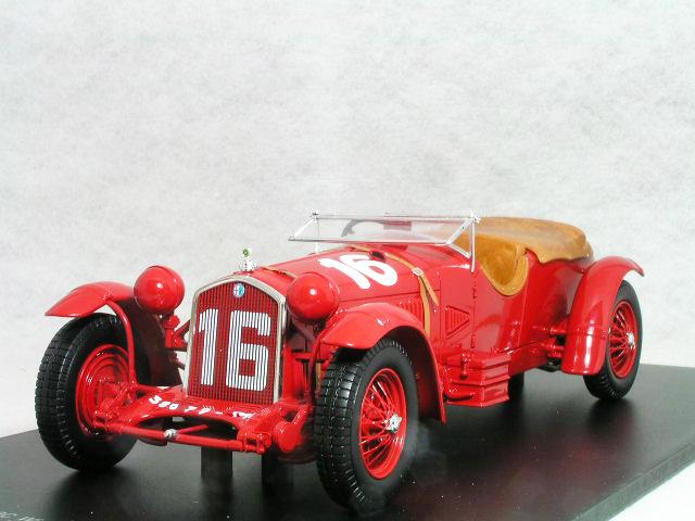 スパーク 1/18 アルファ ロメオ 8C / 1931年 ル・マン 優勝車 #16