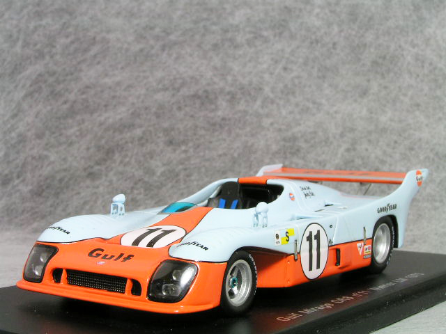 スパーク 1/43 スケールガルフ ミラージュ GR81975年 ルマン24時間レース 優勝車 #11ジャッキー・イクス / デレック・ベル