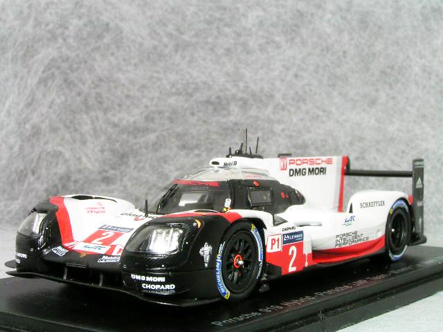 スパーク 1/43 スケール ポルシェ 919 ハイブリッド LMP12017年 ル・マン24時間 優勝車ティモ・ベルンハルト / アール・バンバー    / ブレンダン・ハートレー #2