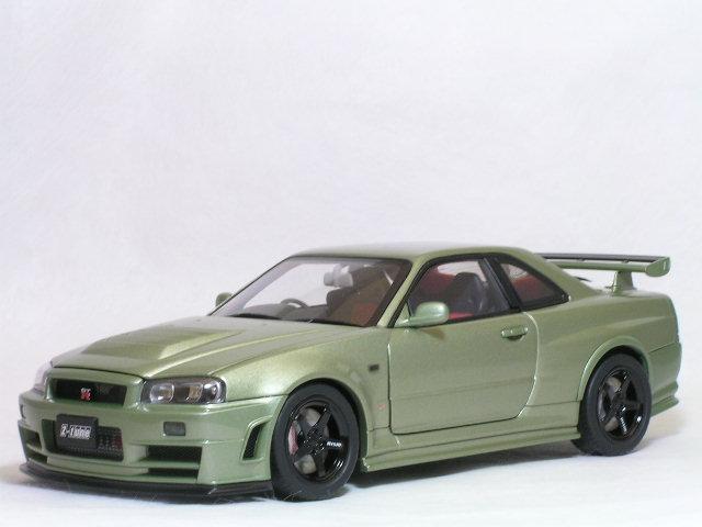 オートアート 1/18 ニスモ スカイライン GT-R ( R34 ) Z - Tune / 限定ボディーカラー ミレニアム・ジェイド
