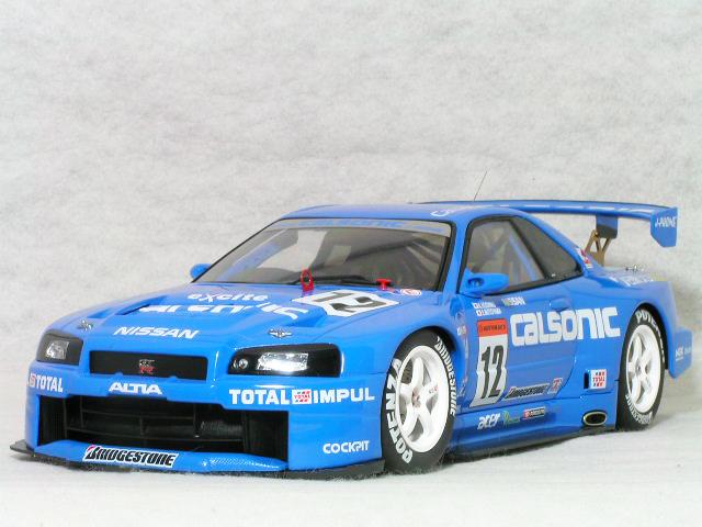 オートアート 1/18 ニッサン スカイライン GT-R ( R34 ) JGTC 2001 カルソニク 星野 一義 / 本山 哲