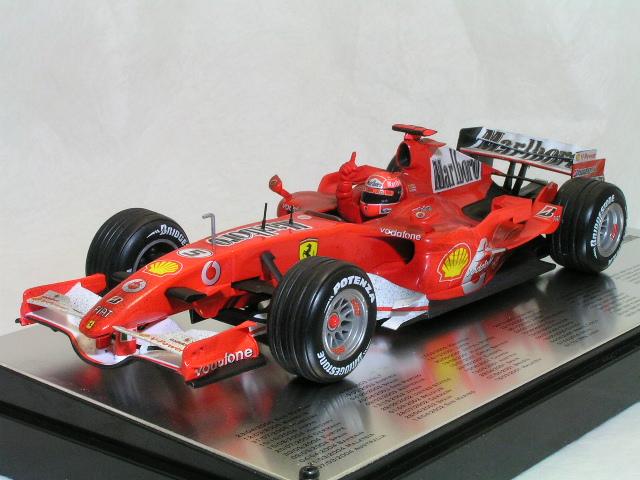 ホット ホィール 1/18 フェラーリ 248 F1 ミハイル・シューマッハ ポールポジション 66回記念モデル / フィニッシュライン バージョン
