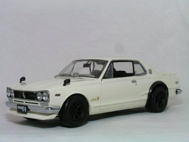 Kyosho 1/18 日産 スカイライン GT-R ( KPGC-10 ) / フロント スポイラー & RS ワタナベ ワイド ホィール / ホワイト