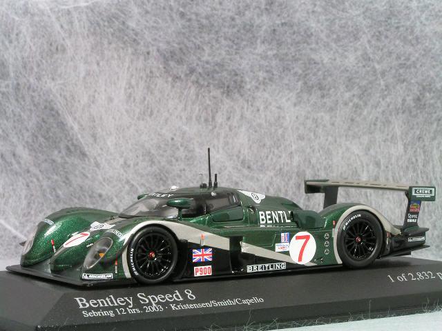 ミニチャンプス 1/43 ベントレー スピード エイト / 2003年セブリング12時間レース