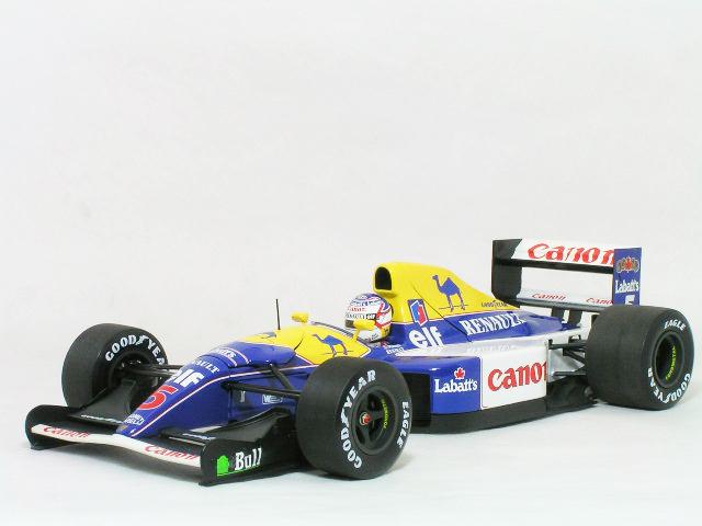 ミニチャンプス 1/18 ウイリアムズ ルノー FW14B / ナイジェル・マンセル 1992年 ワールド チャンピオン