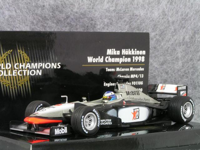 日本製 ミニチャンプス ワールド 1 メルセデス/43 マクラーレン メルセデス/ MP4/13/ 1998年 ワールド チャンピオン ミカ・ハッキネン, 南都留郡:5824429b --- konecti.dominiotemporario.com