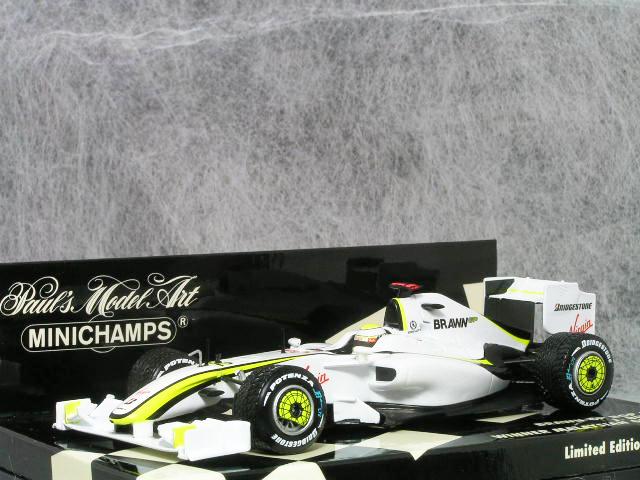 ミニチャンプス 1/43 ブラウン GP BGP 001 / ジェイソン・バトン 2009年 マレーシアGP 優勝車