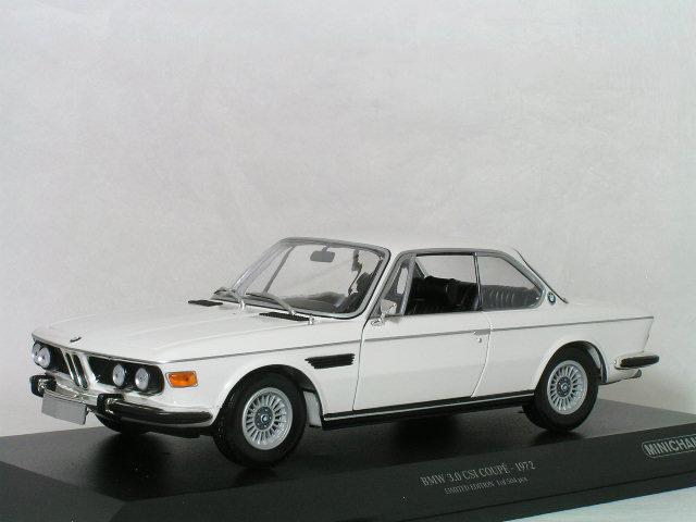 ミニチャンプス 1/18 BMW 3.0 CSi ( E9 ) クーペ / ホワイト